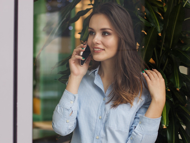 Woman On Her Cell Phone